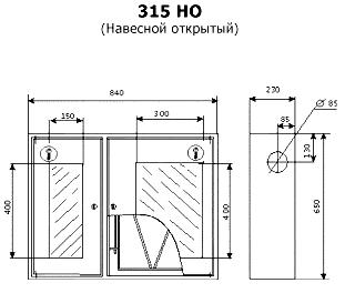 Чертеж ШПК-315 НОБ